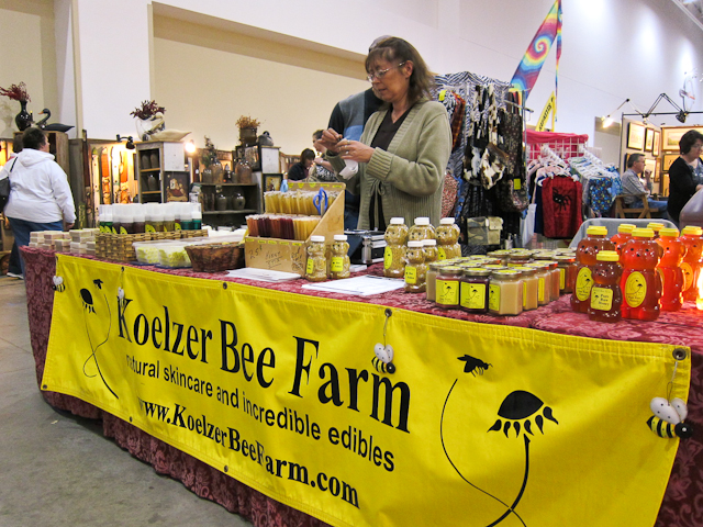 Koelzer Bee Farm at the Coralville Arts & Crafts Show 2012